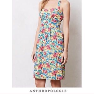 Anthropologie girl from savoy garden party dress
